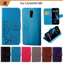 Newest For LEAGOO M9 Factory Price Luxury Cool Printed Flower 100% Special PU Leather Flip case with Strap(China)