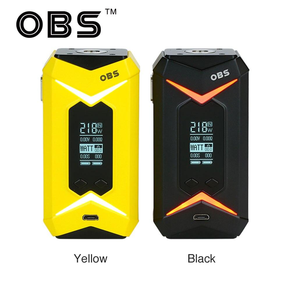 Original OBS Bat Box MOD with Max 218W Output Power & Comfortable Fire Button E-cig Vape OBS Bat Mod No 18650 Battery ruru15070 to 218
