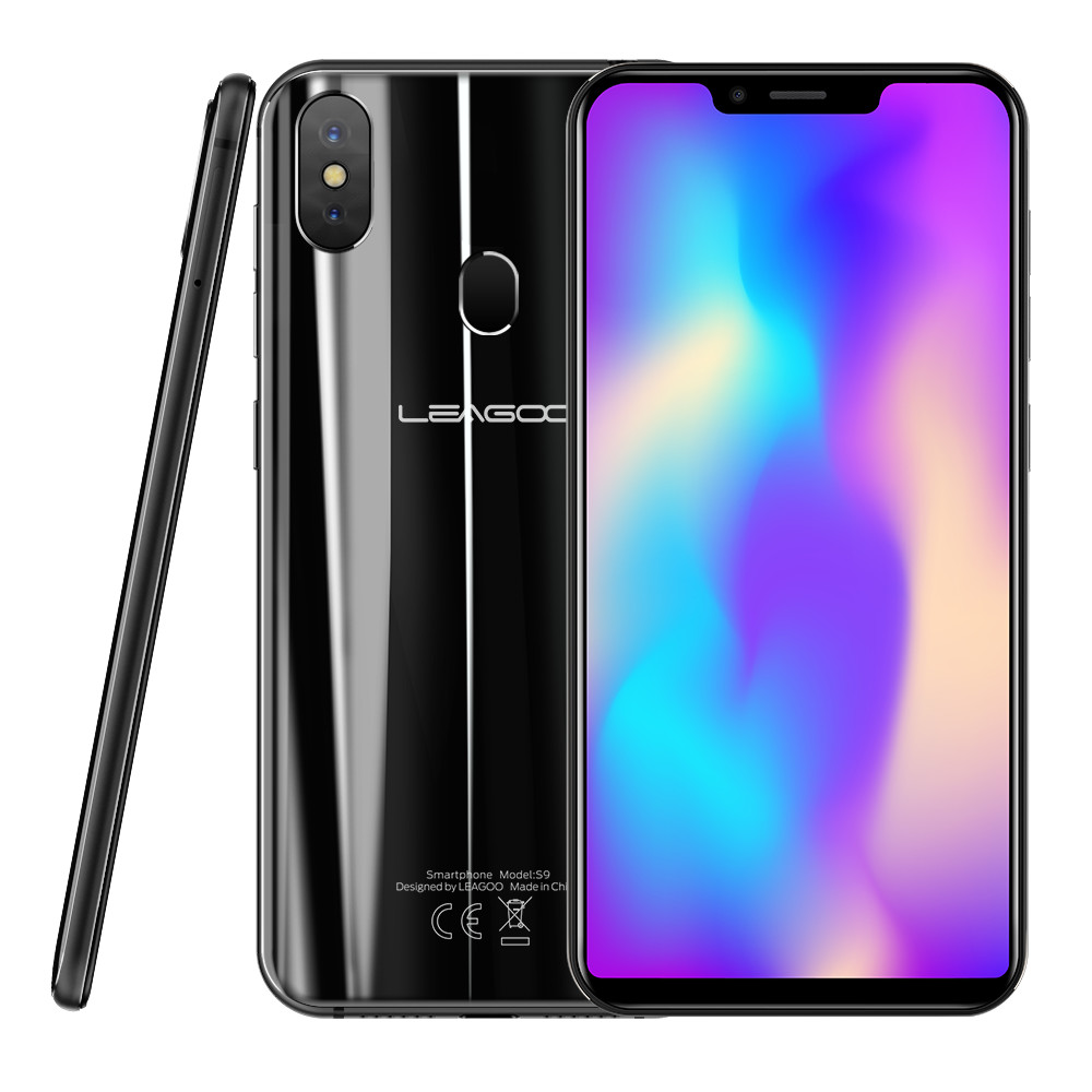 Original Leagoo S9 Android 8.1 Mobile Phone 5.85'' U-shape Display MT6750 Octa Core 4GB RAM 32GB ROM Smartphone Fingerprint OTG