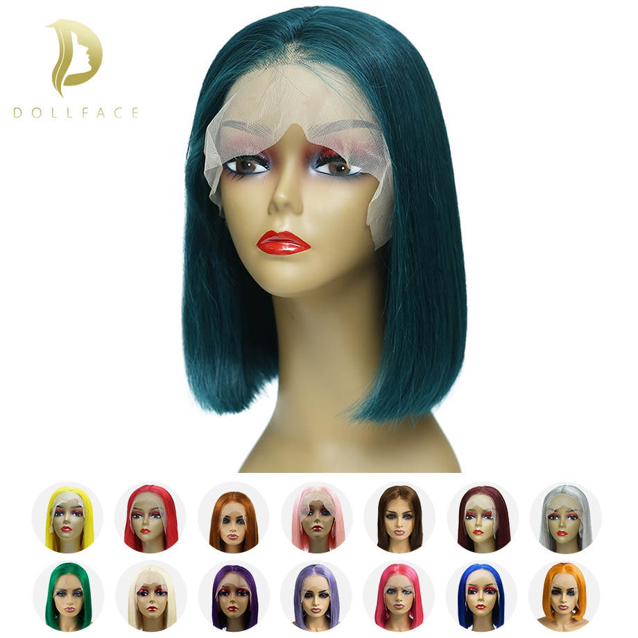 Short Lace Front Human Hair Wigs Blonde Bob Wig With Pre plucked Hairline For Black Women