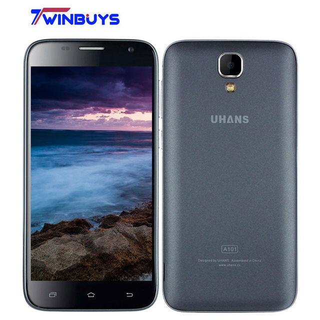 Original UHANS A101 Smartphone 4G Android 6.0 5.0 Inch Gorilla 4 MTK6737 Quad Core mobile phone 2450Mah 1GB+8GB 1280x720