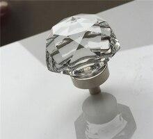 10 peças 30-40mm Cogumelo cabeça de cristal alça alça de Cristal de alto grau K9 liga porta de cristal transparente único buraco alça