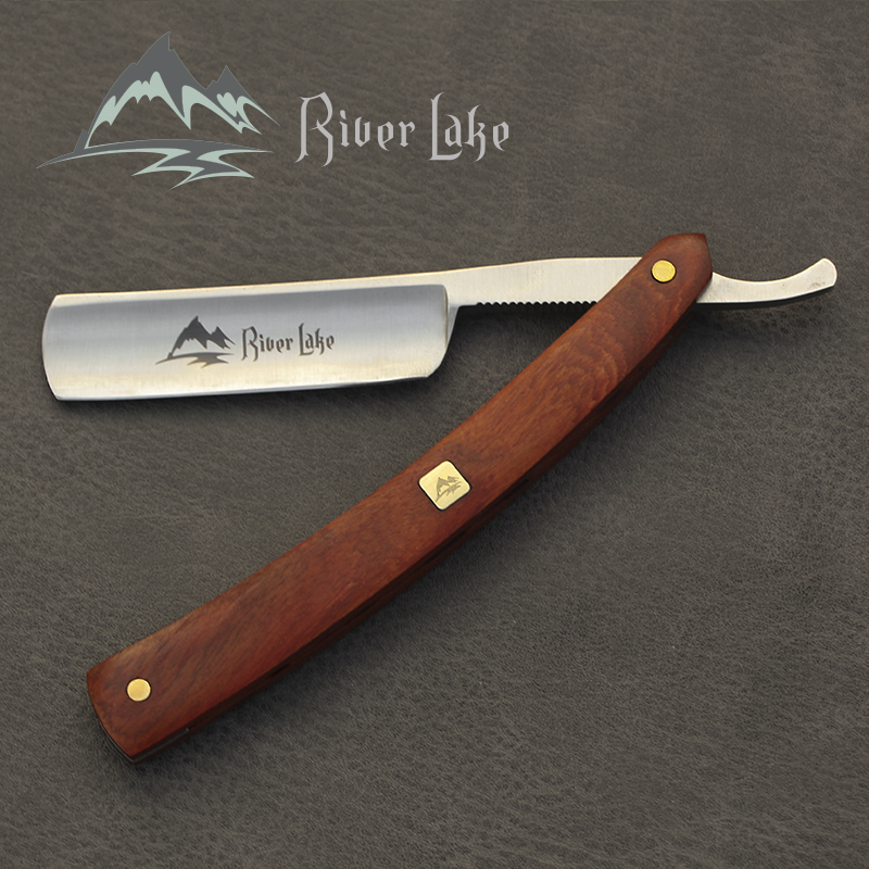 River lake barber shaving straight razor set straight razor shaving Handle razor hand made wooden handle leather razor strop free shipping wooden handle razor shaving knife razor straight razor hair cut razor trimmer for men