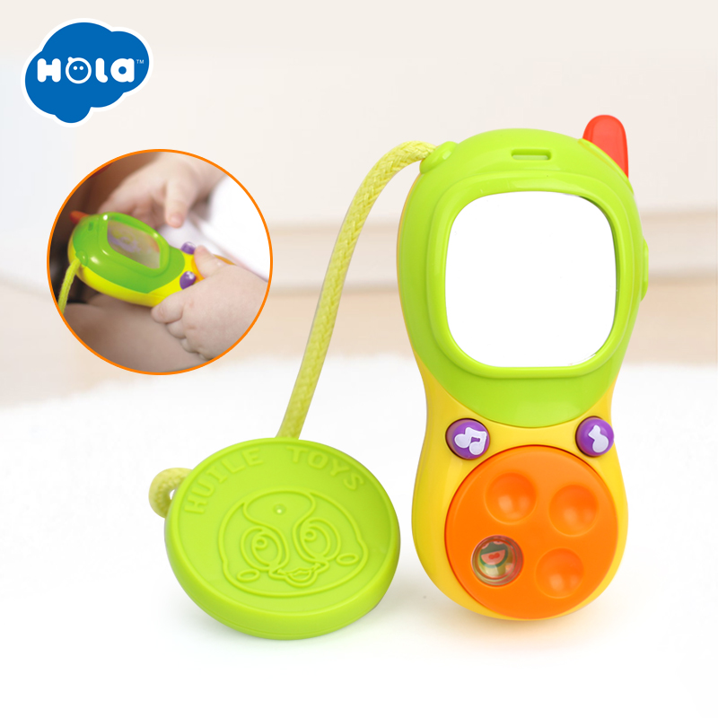 HOLA 3111A Baby Rattle Bed Toy Education Music Mobile Phone For Kid Stroller Crib Toy Newborn 0-12 13-24 Months Infant Toddler
