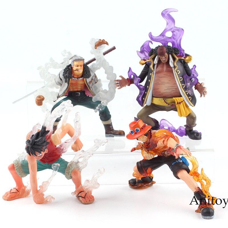 One Piece Figure Anime Luffy Enel Aokiji Kuzan Sir Crocodile Smoker Marshall D Teach PVC Action Figure Toys 4pcs/set 8-13.5cm 1