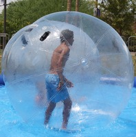 Durable PVC inflatable walk on water roller ball for sale