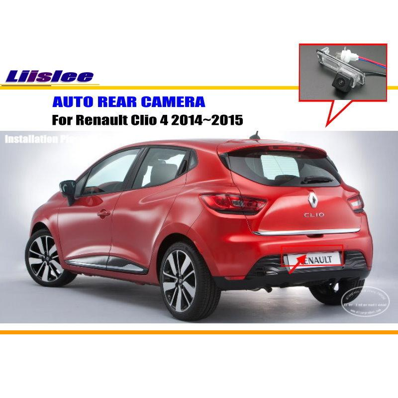 Car Rear View Camera For Renault Clio 4 2014~2015 / Reverse Camera / HD CCD RCA NTST PAL / License Plate Lamp Camera