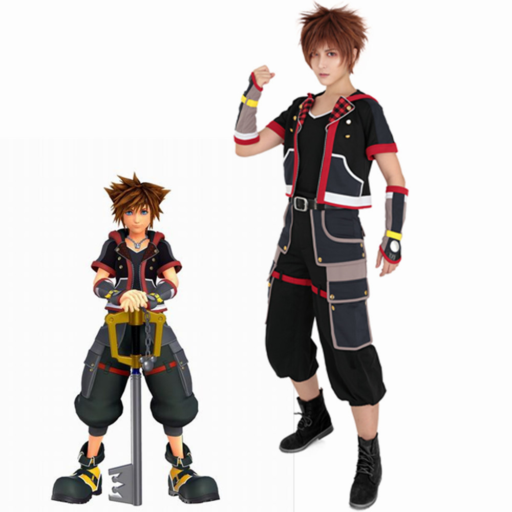 hot !Kingdom Hearts II 2 Sora Cosplay Costume Tailored