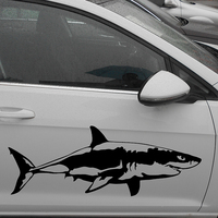 HotMeiNi 58cm x 21.65cm 2 x Great White Shark (one For Each Side)Vinyl Decal Car Window Wall Novelty Sticker Fish Jaws