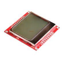 10 cái/lốc 84X48 Nokia 5110 LCD Module với Màu Xanh bộ chuyển đổi đèn nền PCB Dropshipping