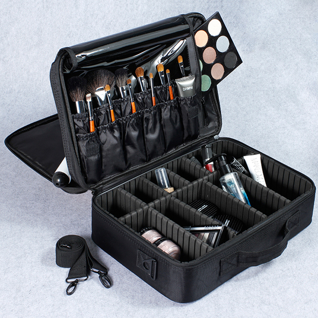 Female High Quality Professional Makeup Organizer Bolso Mujer Good Cosmetic Bag Large Capacity Storage case Multilayer Suitcases 1