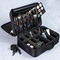 Mujeres de alta calidad profesional organizador de maquillaje Bolso Mujer buena bolsa de cosméticos de gran capacidad caja de almacenamiento de maletas multicapa