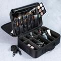 Organizador de maquillaje profesional de alta calidad para Mujer bolsa de cosméticos de gran capacidad estuche de almacenamiento multicapa