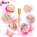 Tungsten Steel Shank 2.35 mm Flat Dome Top Electric Nail Drill Bit Nail File for Nail Drill Manicure Machine Accessory Tools 00