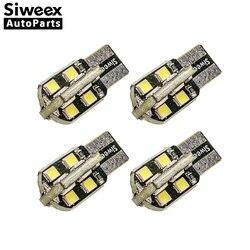 4 PCS Siweex W5W T10 LED 16 2835 SMD Auto Lichter 194 168 Dome Kennzeichen Tür Seite Marker Lampe freiheit Lampen 12 V Warm Weiß