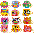 EVA Cartoon Handmade Bags DIY Hand sewing Educational Toys for Children