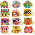 EVA Dos Desenhos Animados Feitos À Mão Sacos de costura de Mão DIY Brinquedos Educativos para Crianças