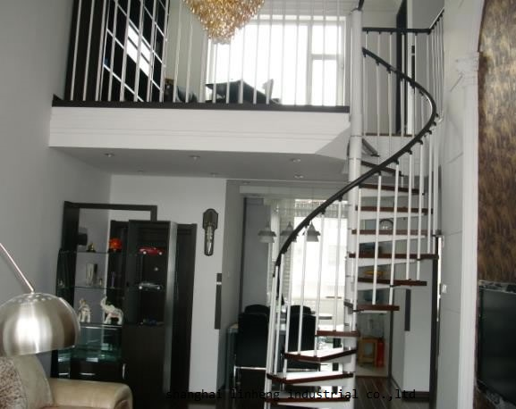 Купить с кэшбэком High quality low cost indoor spiral staircase for home building project