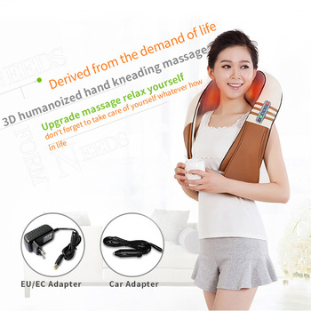 U Shape Electrical Shiatsu Back Neck Shoulder Body Massager Infrared Heated Kneading Car/Home 3