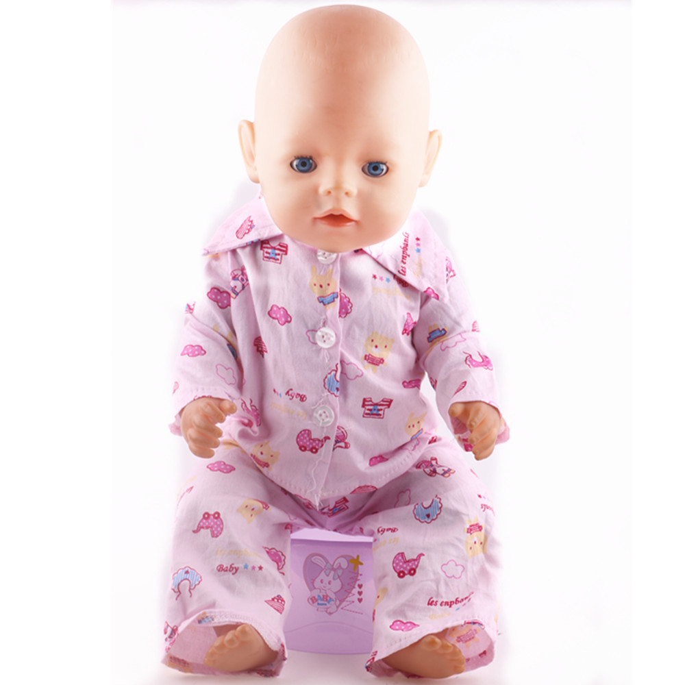 7b9952329ce Stylish Winter Style Pajamas Fit 43cm Just Born Baby Dolls