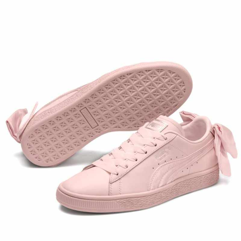 PUMA original Women s Basket Bow Wn Sneaker Badminton Shoes size35.5-40 0cca1c106