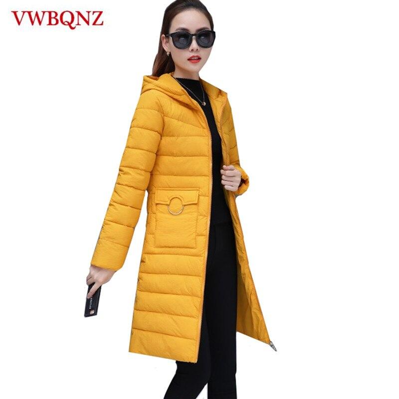 2018 New Winter Jacket Women Plus Size 3XL Womens   Parkas   Warm Outerwear solid hooded Coats Long Female Slim Cotton Basic Jacket