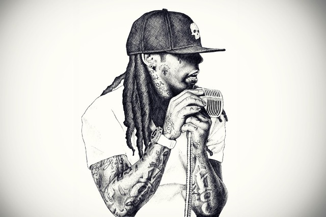 Lil Wayne Rap Singer Art Silk Fabric Poster 36 x 24 ...