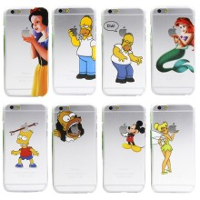 fashion Simpson Mermaid Snow White openwork case for iphone 4 4s 5 5s SE 5c 6
