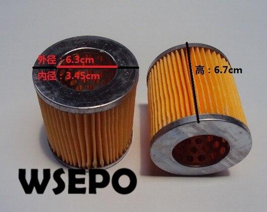 ¡Calidad ji! Filtro de aire, elemento para 168F 3.5HP Horizontal 196CC motor Diesel refrigerado por aire de 4 tiempos