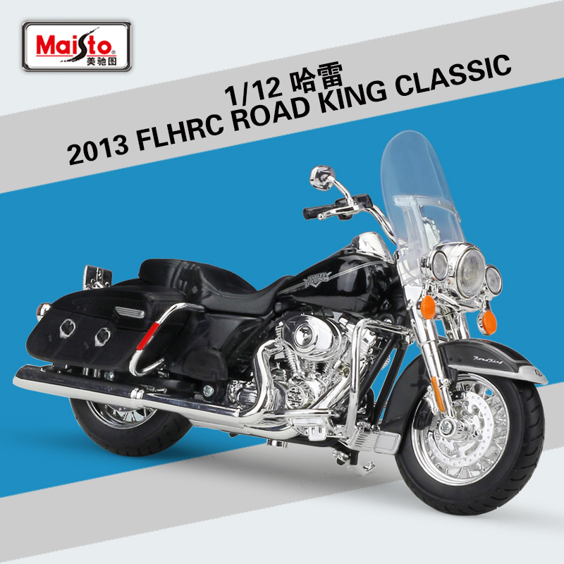 Maisto <font><b>1:12</b></font> 2013 FLHRC Road King Classic Metal <font><b>Diecast</b></font> Model Sport Race Motorcycle Model Motorbike For Collectible image