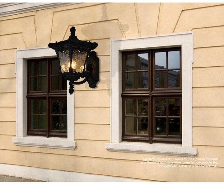 Impermeabile lampada da parete per esterni luci del giardino villa