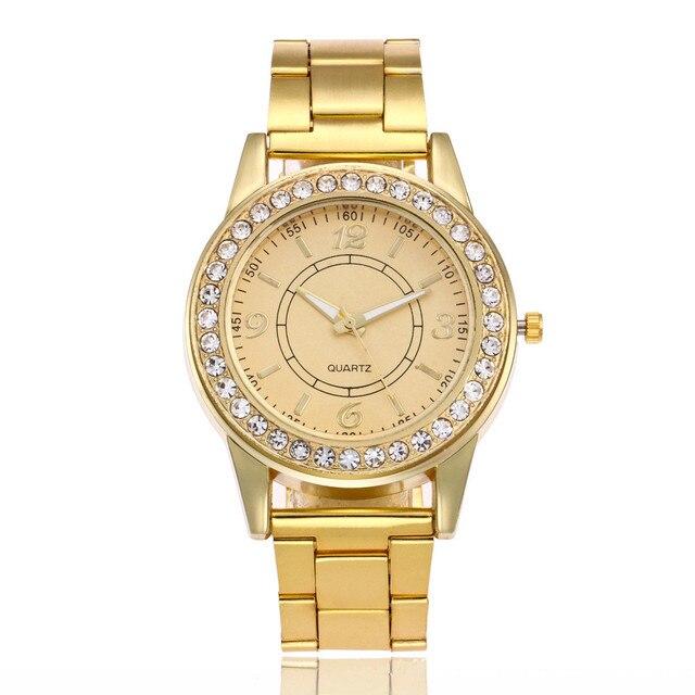 Golden Classical Watch Women Luxury Brand Crystal Ladies Bracelet Watches Fashio