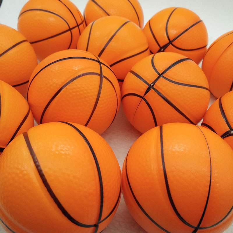 Anti Stress Ball Toy Relief Basketball Soft Foam Rubber squeeze Ball Funny Toys for Chrildren 12pcs 6.3cm