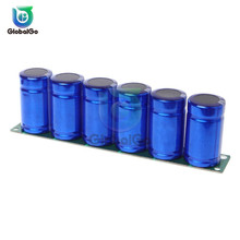 6pcs/Lot 2.7V 500F Super Farad Capacitors with Protection Circuit Board ingle Row 16V 83F Capacitor Car Auto Electronic