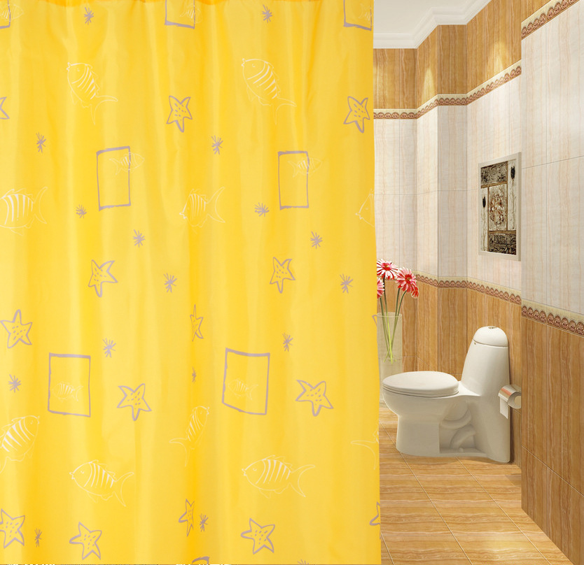 New arrival high grade polyester waterproof a shower for Star material for curtains