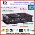 Thin client, htpc, intel core i3 nuc 5005u dual core intel graphics hd, hdmi, 2 * com rs232, vga, mini computador itx