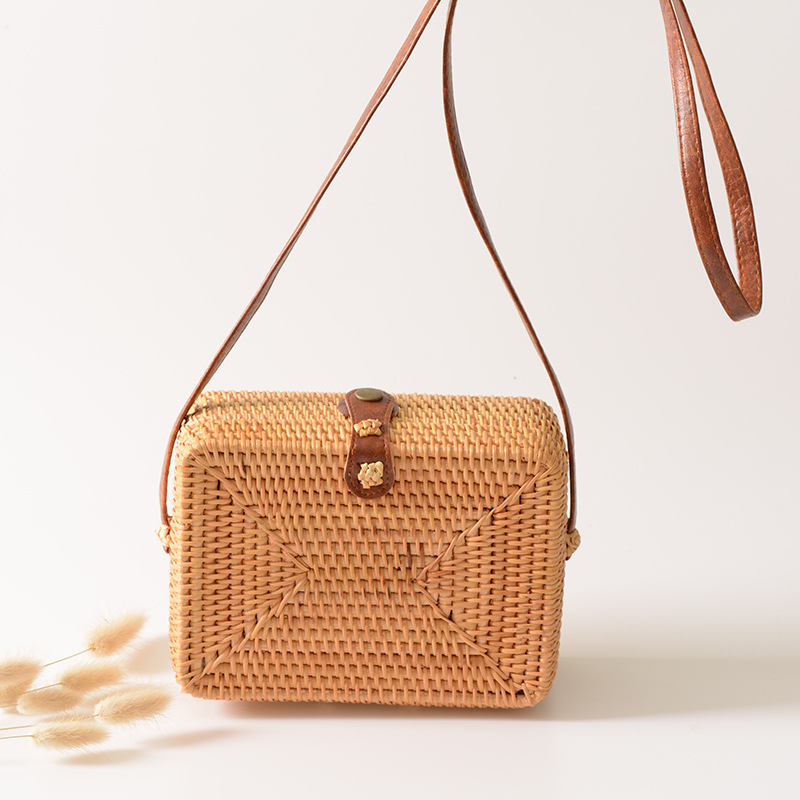 Luggage & Bags Smart Summer Women Bags Designer Hand Square Rattan Straw Bag Hollow Crossbody Bag Bohemia Holiday Beach Flap Shoulder Bag Female Women's Bags