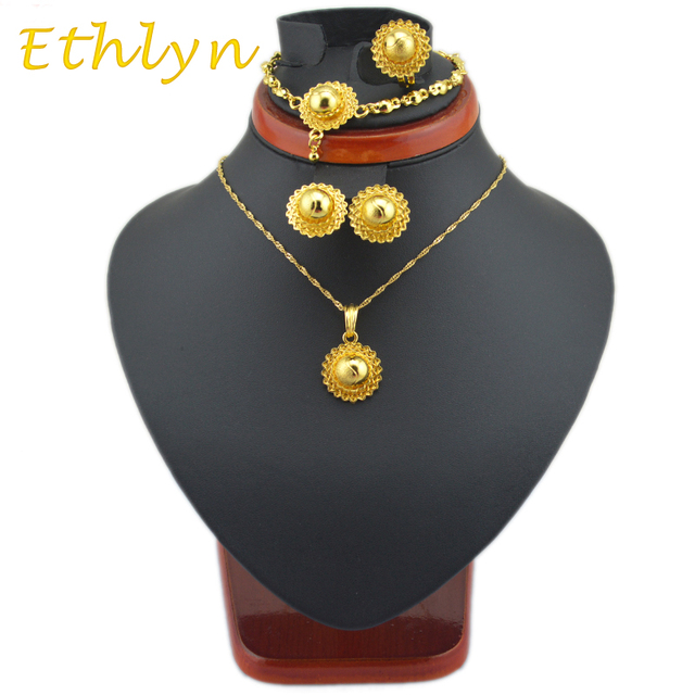 Ethlyn cute BABY girls  Ethiopian jewelry  sets  24k Gold plated sets  for African /Ethiopian /Eritrean /Habesha Jewelry sets