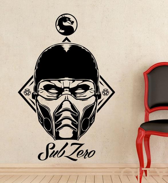 Sub Zero Vinyl Sticker Decal Mortal Kombat Game Wall Art
