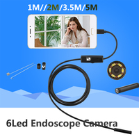 5 5MM 2M Mini Usb Android Inspection Endoscope Camera Underwater Endoscopio Tube Snake Micro Cameras For