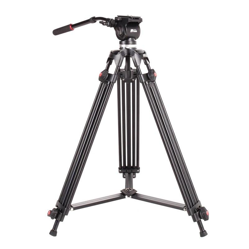JIEYANG JY0508 Caméra Vidéo Trépied 160 cm/5FT avec DSLR Fluide Tête Rapide Plaque de Libération pour Professionnel Photographie Photo studio