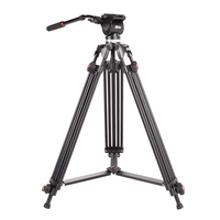JIEYANG JY0508 Camera Video Tripod 160CM/5FT with DSLR Fluid Head Quick Release Plate for Professional Photography Photo Studio