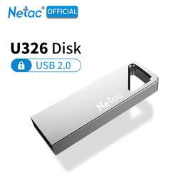 Netac U326 USB 2,0 Aluninum сплава флэш-диск 16 GB 32 GB металла замочную скважину USB флэш-накопитель водонепроницаемый, серебристый USB2.0 Флешка-ручка