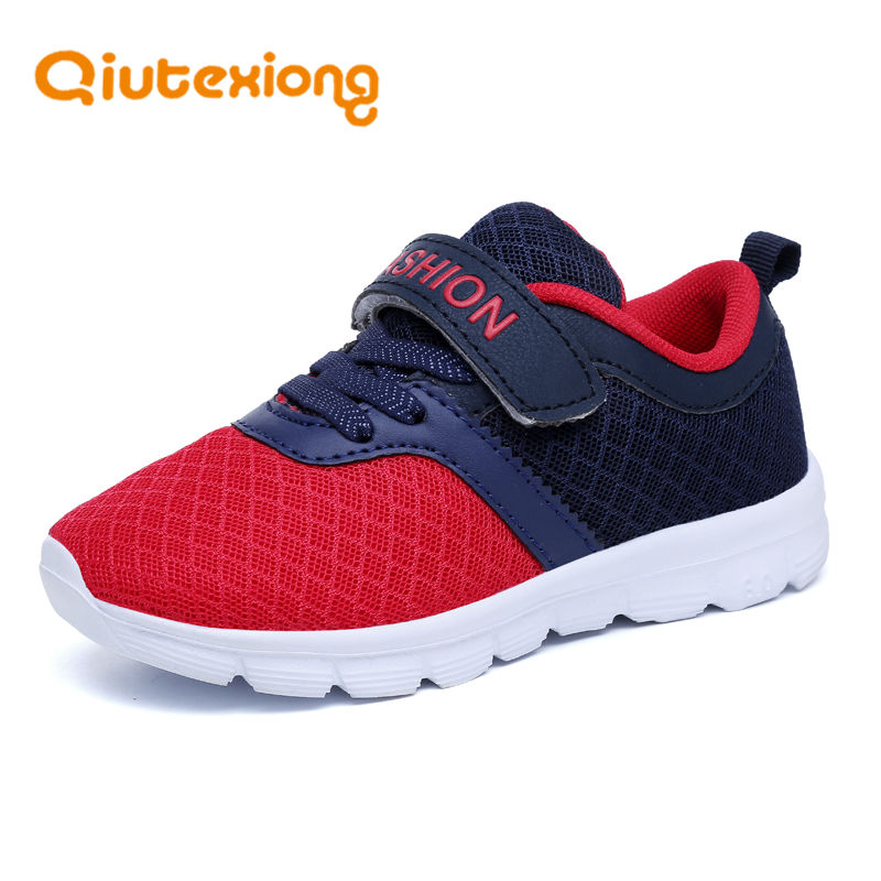 QIUTEXIONG Kids Sport Shoes For Boys Sneakers Children Shoes Breathable Running Trainer School Student Footwear Mesh Kids Shoes