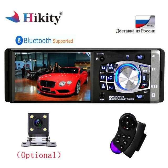 "Hikity Autoradio 1din Car Radio 4012B 4.1"" inch Bluetooth MP5 Player Auto Audio Stereo Support Rear View Camera Remote Control"