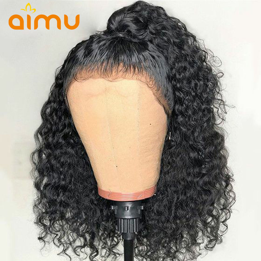 13X6 Deep Part Indian Remy Short Bob Water Wave Lace Front Human Hair Wigs Preplucked Pixie