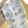 Luxurious Handmade Rhinestone Satin Bridal Belt Free Shipping Mariage Sash Organza Wedding Belt with Crystal New Arrival
