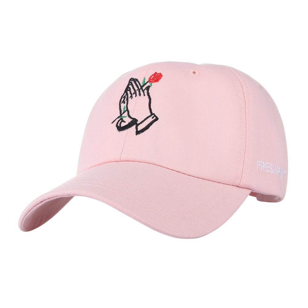 Hand Rose Embroidery Baseball Cap Cotton Casual Hats For Men Women Bone Snapback Caps Gorras Casquette hand rose embroidery baseball cap cotton casual hats for men women bone snapback caps gorras casquette