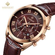 2016 de luxe marque newFashion Bracelet En Cuir Multifonction Montres Hommes Montre À Quartz Montres Étanches Mâle Relojes de Table