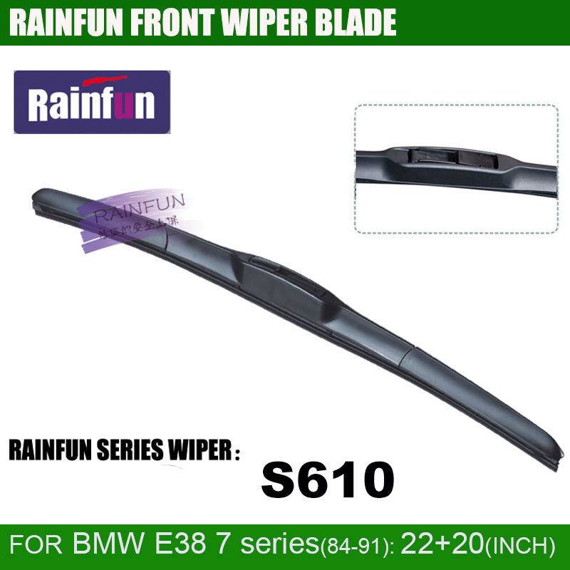 RAINFUN 22+<font><b>20</b></font> inch car wiper blade for 1991-2001 <font><b>BMW</b></font> 7 SERIES E38 725/ 728/ 730/ 735/ 740/ 750, 2 <font><b>pcs</b></font> a lot image